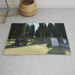 Redipuglia, Italy: Military shrine. It contains the remains of over 100.000 Italian soldiers fallen during the First World War. Friuli Venezia Giulia. Sunny spring afternoon day. Rug