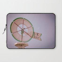 Challenge Company Eclipse OK Vintage Antique Wooden Windmill Batavia Illinois Laptop Sleeve
