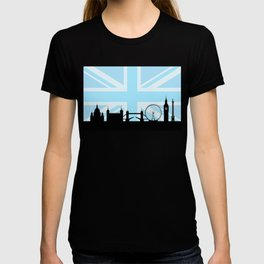 London Sites Skyline and Blue Union Jack/Flag T-shirt