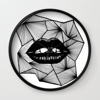 lips Wall Clocks featuring Lips by Aurelie