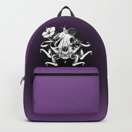 The Skull the Flowers and the Snail Backpack