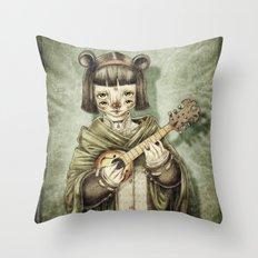 Girl II Throw Pillow