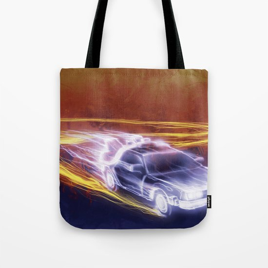 Neon Back to the Future Tote Bag