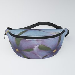 Blue Periwinkles - British Wildflowers Fanny Pack