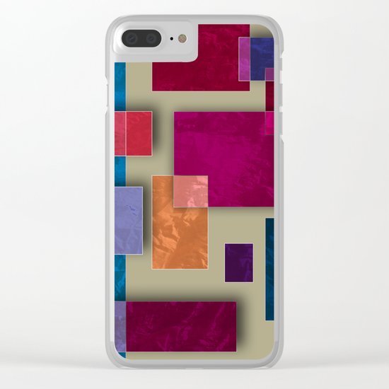 Abstract #333 Clear iPhone Case