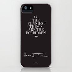Mark Twain Quote with Original Signature iPhone (5, 5s) Slim Case