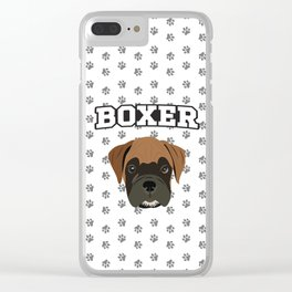 Boxer Love Clear iPhone Case