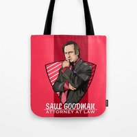 lawyer Tote Bags featuring You need a lawyer? by Akyanyme