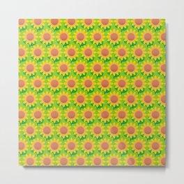 Sunflower Pattern_H Metal Print