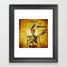 Open the Birdcage Framed Art Print