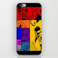 x men iPhone & iPod Skins featuring X-Men by Carrillo Art Studio