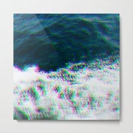 Oceanic Glitches - Ship Splash Metal Print