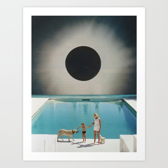 MIDNIGHT POOL Art Print