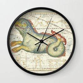 Vintage Celestial Map - Jamieson - Cygnus, Lacerta, and Lyra (1822) Wall Clock