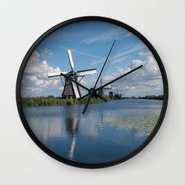 Kinderdijk Windmills Wall Clock