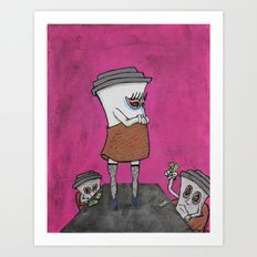 Two Drink Minimum Art Print