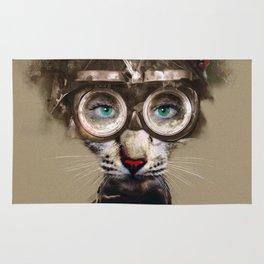 Steampunk Cat Rug