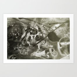 Alien Carnage Negative Art Print