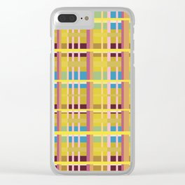 New Plaid 3 Clear iPhone Case