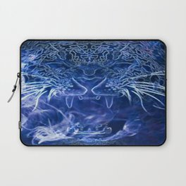 Blue Leopard Smoke Laptop Sleeve