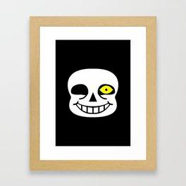 Sans Skull Bad Time Framed Art Print