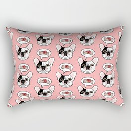 Time to treat the cute Frenchie Rectangular Pillow