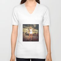 chelsea V-neck T-shirts featuring Chelsea Lately  by Erwan Khatib