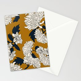 Orange paeony Stationery Cards