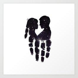 Peaceful love Art Print