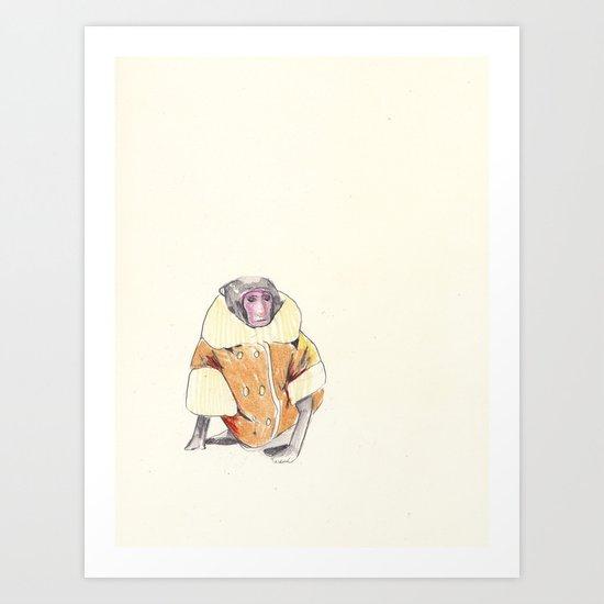 The Stylish Monkey Art Print