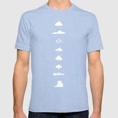 Famous Clouds Tri-Blue Mens Fitted Tee X-LARGE