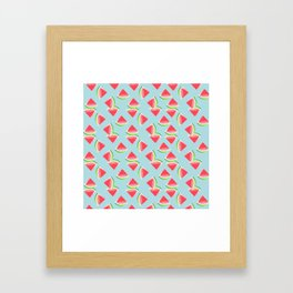 AFE Watermelon Pattern 4 Framed Art Print