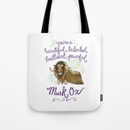 Leslie Knope Compliments: Musk Ox Tote Bag