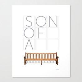 Son of a bench. Canvas Print