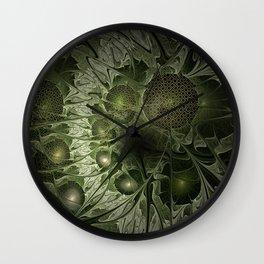Fractal Moss Wall Clock