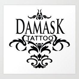 Damask Tattoo  Art Print