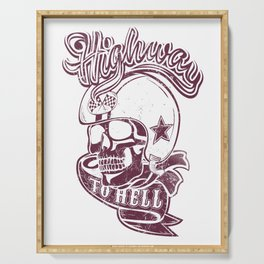 Highway to hell skull Serving Tray