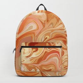 Marble Abstract Pink Sahara Desert Backpack