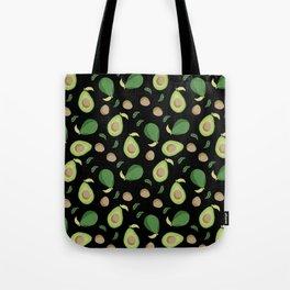 Avocado gen z fashion apparel food fight gifts black Tote Bag