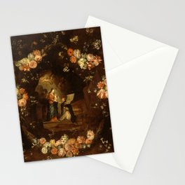 "Jan van Kessel ""Madonna with the Child Framed with a Garland of Flowers"" Stationery Cards"