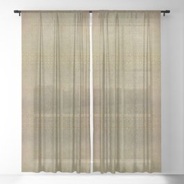 Gold and Silver Leaf Pattern Sheer Curtain