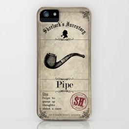 Sherlock Holmes Inventory - Pipe iPhone Case