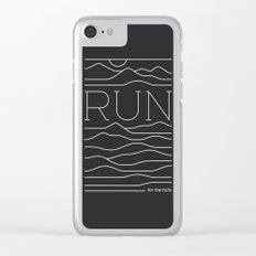 Run for the Hills Clear iPhone Case