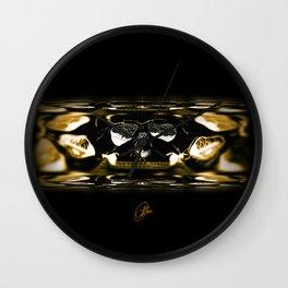gold skull Wall Clock
