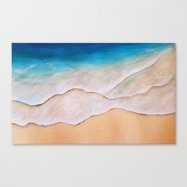 Sea, watercolor Canvas Print