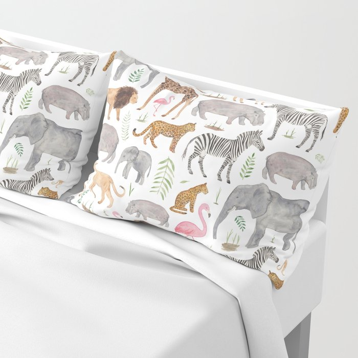 Safari Animals Pillow Sham