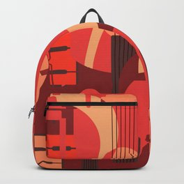String Music Instrument Pattern Backpack
