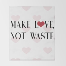 Make Love, Not Waste with a Red Heart Throw Blanket