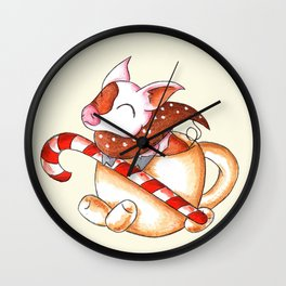 Cozy Cocoa Wall Clock
