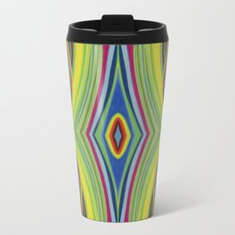 Retro Line Design of Many Colors Pastel on Suede by annmariescreations Travel Mug